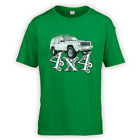 4x4 XJ Kids T-Shirt -x10 Colours- Gift Present Off Road Green Lane American Tow