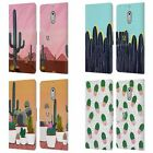 HEAD CASE DESIGNS CACTUS PRINTS LEATHER BOOK CASE FOR MICROSOFT NOKIA PHONES