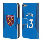 WEST HAM UNITED FC 2017/18 AWAY KIT 1 LEATHER BOOK CASE FOR APPLE iPOD TOUCH MP3