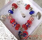 NFL BUFFALO BILLS Crystal European Team Charm Bracelet EJ Manuel FREE SHIPPING! on eBay