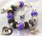 NFL BALTIMORE RAVENS Crystal European Team Charm Bracelet   FREE SHIPPING!!! $32.49 USD on eBay