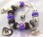 NFL BALTIMORE RAVENS Crystal European Team Charm Bracelet   FREE SHIPPING!!! on eBay