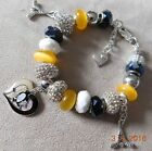 NHL PITTSBURGH PENGUINS Crystal European Team Charm Bracelet FREE SHIPPING!!! $32.49 USD on eBay