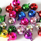 10X Mix Color Small Jingle Bell Copper Metal Fit Festival  Pendants Decor JR