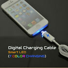 Led Light 7 Color Changing Lightning Data Charger Cable Cord For Apple Iphone