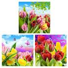 5D DIY Tulip Flower Diamond Painting Embroidery Round Drill Cross Stitch Decor