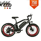 BPM 750W F-20S 13AH  Fat Tire 48v Electric Bicycle mountain 20' E Bike RED RIMS