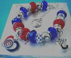 MLB CHICAGO CUBS Crystal EuropeanTeam Charm Bracelet Jake Arrieta FREE SHIPPING