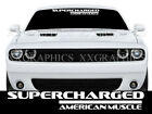 SUPERCHARGED AMERICAN MUSCLE Windshield Decal Sticker srt hellcat (Size & Color)