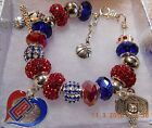 NBA L.A. LA LOS ANGELES CLIPPERS Crystal Team Charm Bracelet  FREE SHIPPING!! on eBay