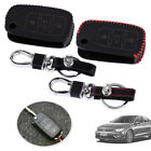 3 Button PU Leather Remote Key Case Cover Fit for VW Golf Jetta Passat Polo