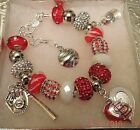 MLB ST LOUIS CARDINALS Crystal European Team Charm Bracelet FREE SHIPPING! on Ebay