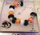 NHL PHILADELPHIA FLYERS Crystal European Team Charm Bracelet  FREE SHIPPING!!! $35.9 USD on eBay