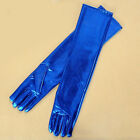 Womens Long Gloves PVC Adult Wet Look Latex Sexy Party Opera Costume