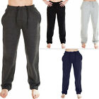 Mens Trouser Jogging Fleece Bottom Sweatpants Gym Tracksuit Open Hem Loose Fit