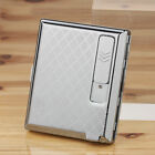 Metal Cigarette Case With USB Lighter Electronic Rechargeable Windproof Lighter
