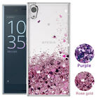 For Sony Phone Cute Glitter Liquid Quicksand Clear TPU Protective Case Cover