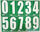 4 x White numbers on Green background -Iame-X30 Rotax Cadet Karting Race Numbers
