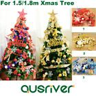 Christmas Tree 1.5/1.8/2.1M Ornament Set Party Baubles Xmas Hanging Decoration