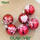 Christmas Baubles Ball Shiny Glitter Ornament Xmas Tree Hanging Party Decoration