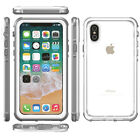 Waterproof Shockproof Snow-proof Slim Full Clear Cover Case For Apple iPhone X