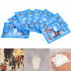 10/50/100Pack Instant Snow Powder Fluffy Absorbant Magic Prop Xmas Decor Kid Toy