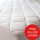 Free Pillow Cover Extra Deep Mattress Protector Luxury Quilted, Fully Fitted