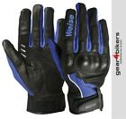 SALE Weise Airflow Plus Blue Short Motorcycle Glove Mesh Summer Air Flow Gloves