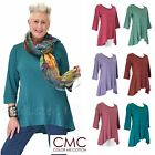CMC by COLOR ME COTTON USA  3218  Supima Jersey FLATTER SEAM TUNIC Top 2017 FALL $59.28 USD