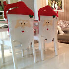1x Cute Santa Clause Red Felt Hat Chair Back Cover Christmas Dinner Table Decors