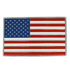 Made in USA, American Flag Patriotic Metal Belt Buckle - FREE SHIPPING