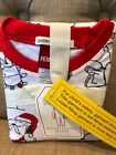 Pottery Barn Kids Holiday PEANUTS SNOOPY Tight Fit Pajamas Size 4 6 8 Christmas
