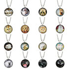 1pc Womens Cat Cabochon Necklace Glass Pandant Long Chain Jewellery Chic Gift