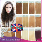 Seamless Skin Weft Invisible Tape in Remy Human Hair Extensions Straight 7A UK
