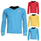 Mens Star Trek Uniform Captain Kirk Spock Scotty Shirt Top Costume Dancy Dress on eBay