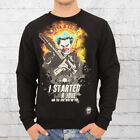Mafia and Crime Herren Sweatshirt Started Joke schwarz Sweater Männer Pullover