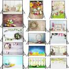 Easter Day Vinyl Photography Backdrop Wall Floor Photo Background Props 3x5ft