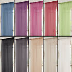 Tony's Textiles Lucy Solid Window Sheer Curtain Panel Rod Pocket - 11 colors