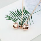 Sport Fitness Weight Lifting Dumbbell Pendant Necklace