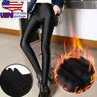 Women Winter Thick Warm Lined Thermal Stretch Skinny Leggings Pants Black Hot Us