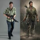The Last of US Hero Joel Green Checked Vintage Style Cotton T-Shirt M-2XL