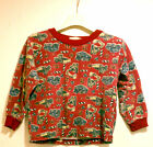 First Base Kids Boys Clothing Pajama Tops Sleepwear Size 5 Size 7 Red Trucks The