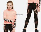 NWT JUSTICE Girls 10 12 14/16 Active Hooded Long Sleeve Tee & Mesh Leggings Set