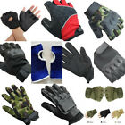 Half Full Finger Leather Training Body Building Fitness Gloves For Men