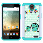 For ZTE Maven 3 / Overture 3 Case Hard Silicone Hybrid Bling Diamond Phone Cover