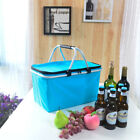 Portable Picnic Lunch Thermal Insulated Bag Ice Cooler Box Storage Travel Basket