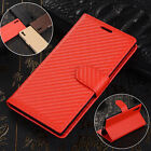 New Genuine Leather Magnetic Wallet Stand Card Holder Pouch Flip Phone Cove Case