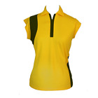 BNWT, Ladies Cap Sleeve Golf Shirt - Yellow with Black Insert, FREE SHIPPING!