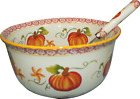Temp-tations 4.5 Qt Bowl, Soup Tureen, Mixing, W/ Ladle, Autumn H204210 H204211