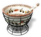 Temp-tations 4.5 qt Bowl Soup Tureen Mixing & Ladle Autumn H204210 H204211